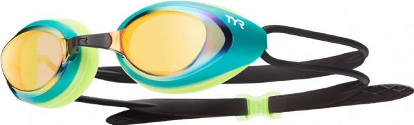 TYR Blackhawk Racing Mirrored Goggles - Green